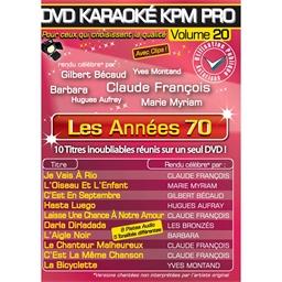 DVD Karaoké : ANNÉES 70