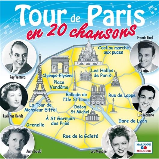 Tour de Paris en 20 chansons