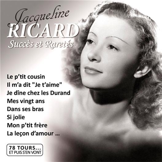 Jacqueline Ricard : 78 Tours