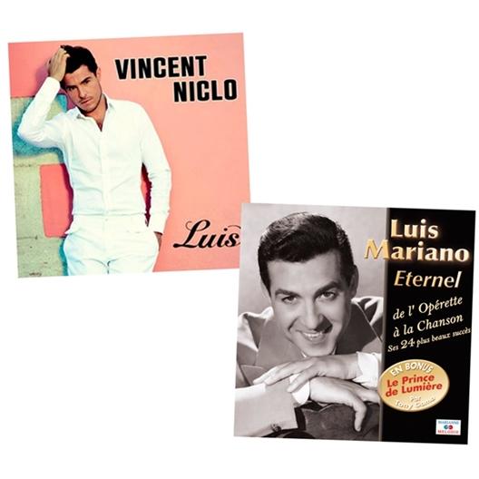 Le lot «Niclo et Mariano»CD Vincent Niclo + CD Luis Mariano à 1 € de plus