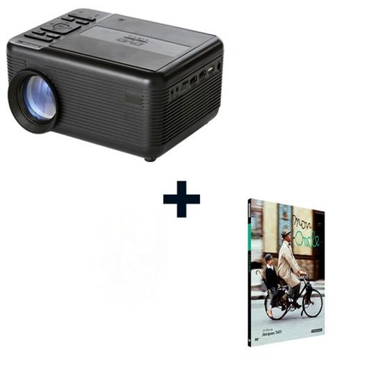 Le lot Rétro projecteur lecteur DVD + le DVD Mon Oncle