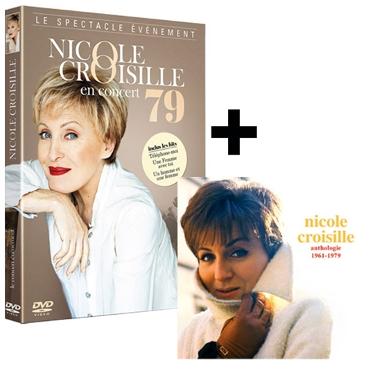 """Le DVD """"Nicole Croisille en Concert"""" + le double CD """"Nicole Croisille"""""""