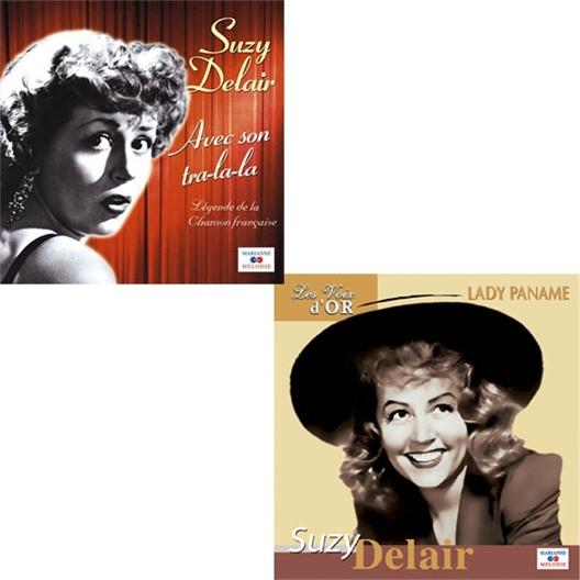 Le Lot 2 CD de Suzy Delair « Lady Paname » + « Avec son Tra-la-la »