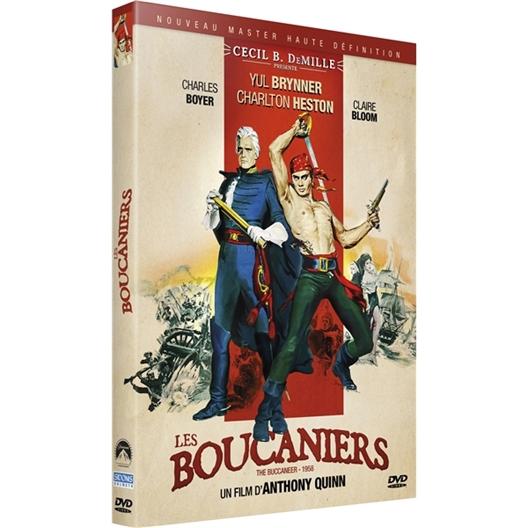 Les boucaniers : Yul Brynner, Claire Bloom, Charlton Heston