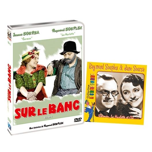 Offre groupée : DVD Sur le banc + Coffret 2 CD Raymond SOUPLEX et Jane SOURZA