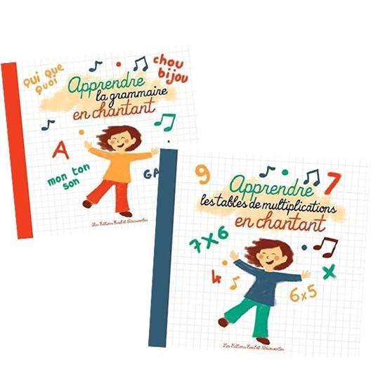 Lot de 2 CD Apprendre en chantant