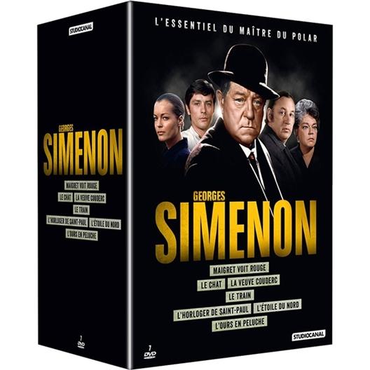 Georges Simenon 7 films : Jean Gabin, Alain Delon...