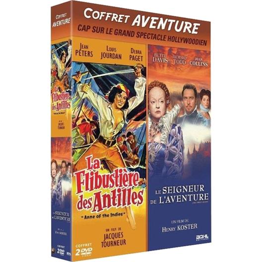 Coffret 2 films d'aventure : Jean Peters, Joan Collins …