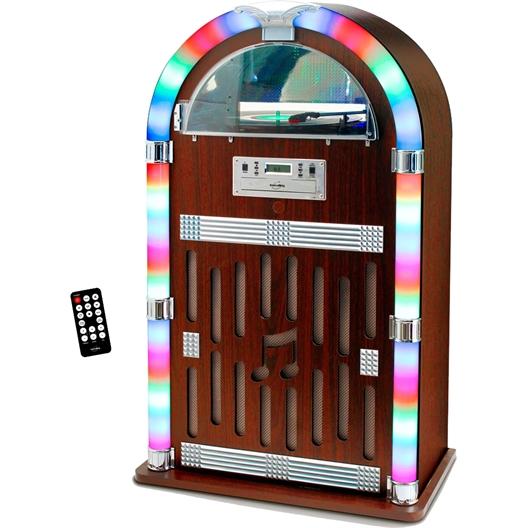 La chaîne HiFi au look Jukebox : Son look vintage cache des performances technologiques !