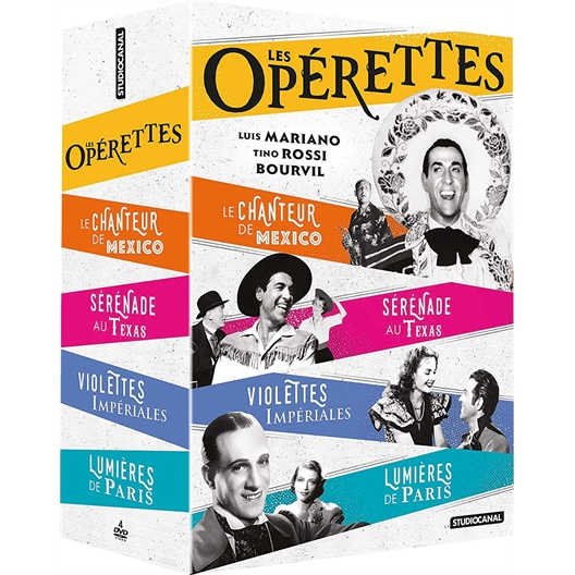 Les Opérettes : Luis Mariano, Tino Rossi, …