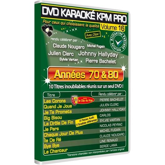 DVD Karaoké : ANNÉES 70 ET 80